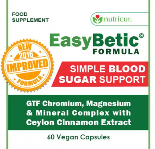 EasyBetic Blood Sugar Support Label