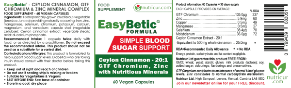 EastBetic - Blood Sugar Support Label