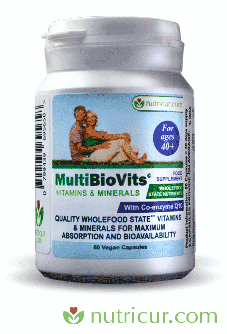 Bioavailable Vitamins and Nutrients for age 40 Plus