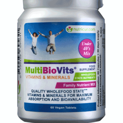 MultiBioVits, Bioavailable Vitamins and Nutrients UNDER 40's