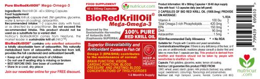 Bio Red Krill Oil Label