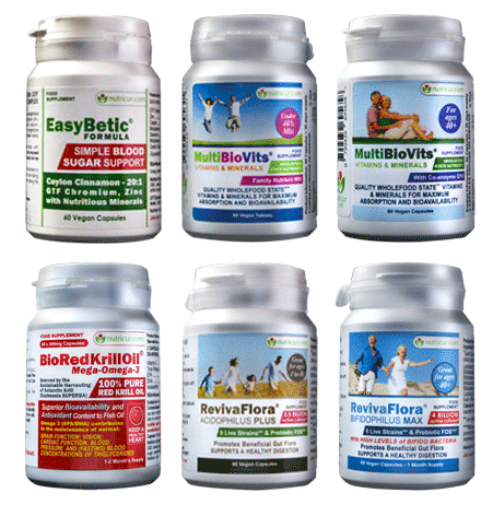 Product Range - Diabetes, Blood Pressure, Cinnamon, GTF Chromium, MultiVitamins ProBiotics